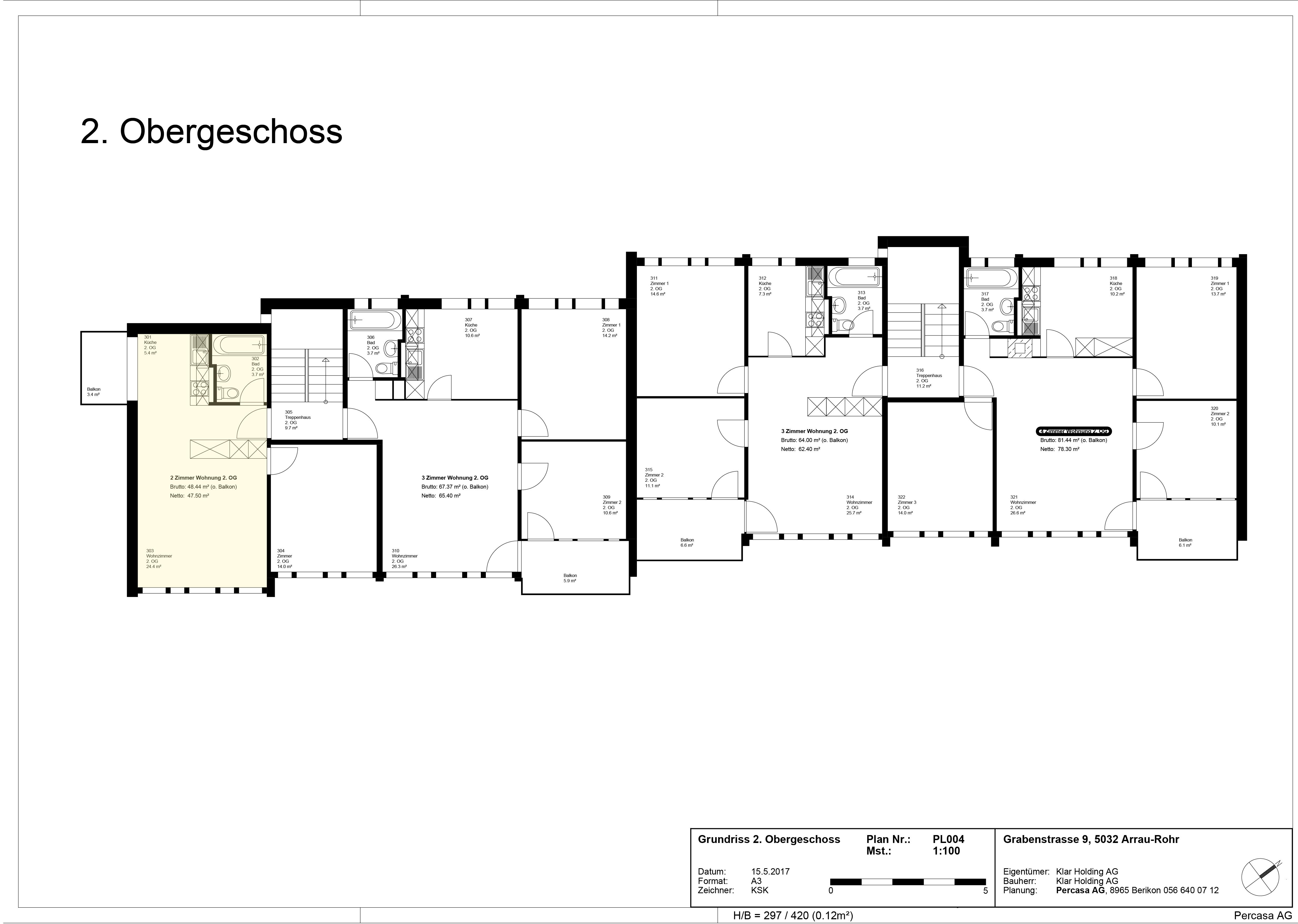 170517 Aarau Grabenstrasse 9, GR 2.OG